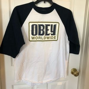 Other - OBEY men's 3/4 sleeve Large t-shirt